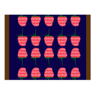 STRAWBERRY art Sweet Fresh Raspberry taste FUN Postcard