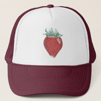 Strawberry Art Trucker Hat