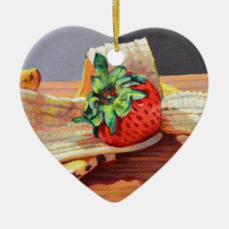 Strawberry Banana Split Christmas Ornament