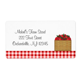 Strawberry Basket Business Label