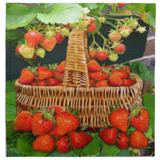 Strawberry basket ~ Napkins