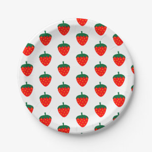 Strawberry Berry Fruit Red White Farm Summer Paper Plate  sc 1 st  Zazzle & Strawberry Red Plates | Zazzle.co.uk