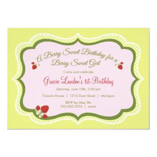 Strawberry |  Birthday Invitation