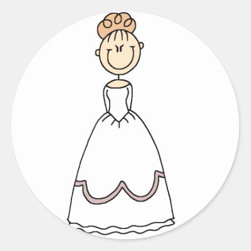 Strawberry Blonde Bride Sticker
