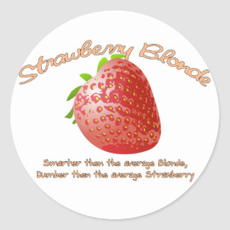 Strawberry Blonde Round Sticker
