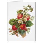 Strawberry Blooms Customisable Card