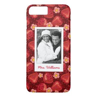 Strawberry Blossom Pattern | Monogram iPhone 8 Plus/7 Plus Case