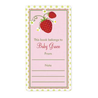 Strawberry Bookplate