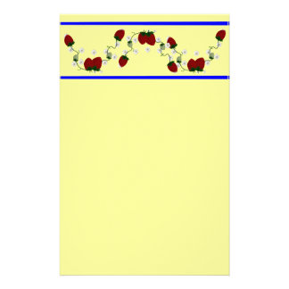 Strawberry Border Stationary Stationery