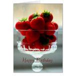 Strawberry Bowl Birthday Card