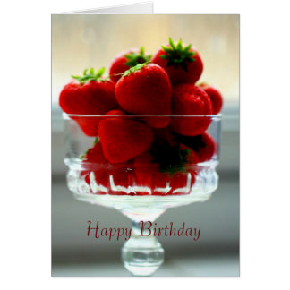 Strawberry Bowl Birthday Card