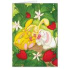 Strawberry Bunny Tea / Notecard