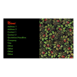 strawberry Double-Sided standard business cards (Pack of 100)