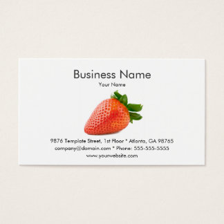 Strawberry Business Card Template