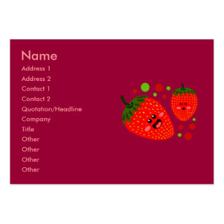 Strawberry Business Cards Chubby Business Cards