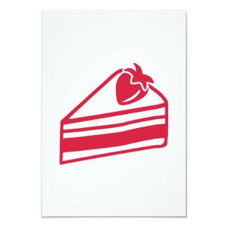 Strawberry cake 9 cm x 13 cm invitation card