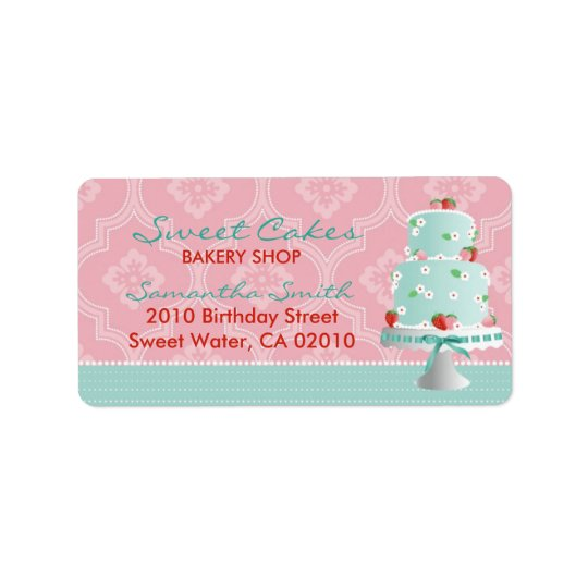 Strawberry Cake Address Label C