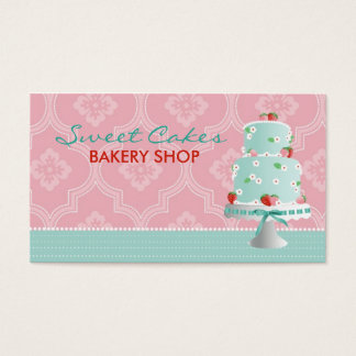 Strawberry Cake Business Card B2