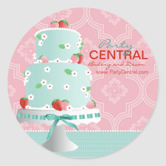 Strawberry Cake Business Sticker