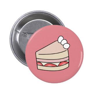 Strawberry cake - Pink 6 Cm Round Badge