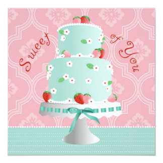 Strawberry Cake Thank You Card