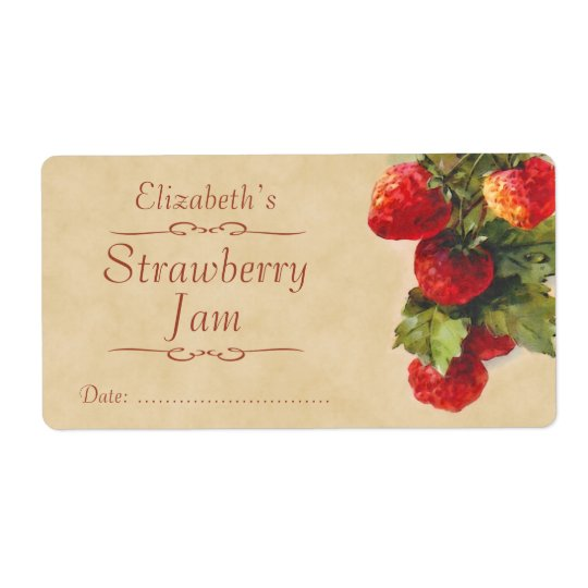 Strawberry Canning label Shipping Label