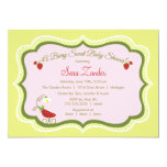 Strawberry Carriage Baby Shower Invitation