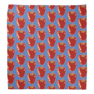 strawberry cartoon style illustration bandana