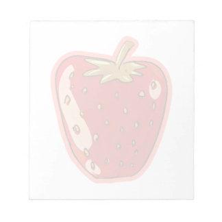 strawberry cartoon style illustration notepad