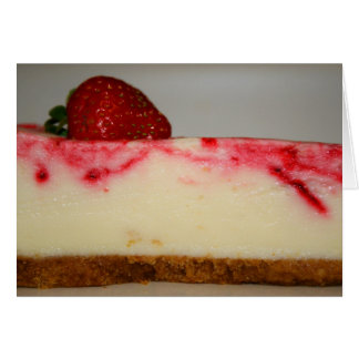 Strawberry Cheesecake Greeting Card,Note Card