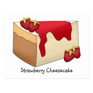 Strawberry Cheesecake Recipe Card Postcard