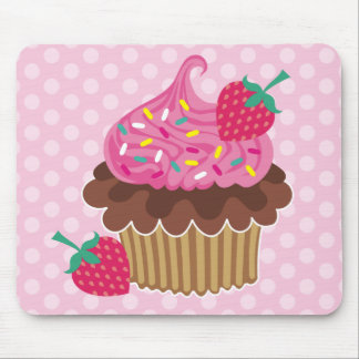 Strawberry & Chocolate Cupcake Mouse Mat
