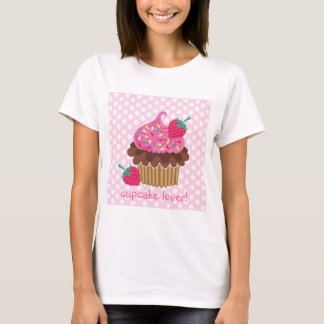 Strawberry & Chocolate Cupcake T-shirt