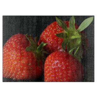 Strawberry chopping board