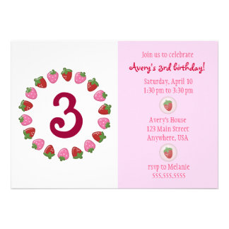Strawberry Circle Invitation