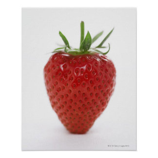 Strawberry, close-up poster