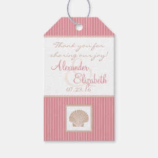 Strawberry Color Beach Themed Wedding Guest Favor
