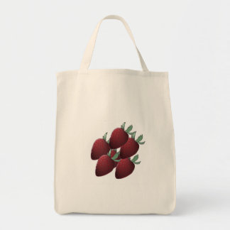 Strawberry Crazy Grocery Tote Bag
