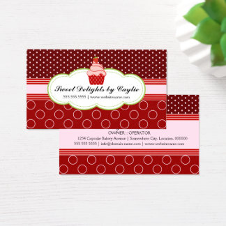 Strawberry Cupcake Bakery Business Card