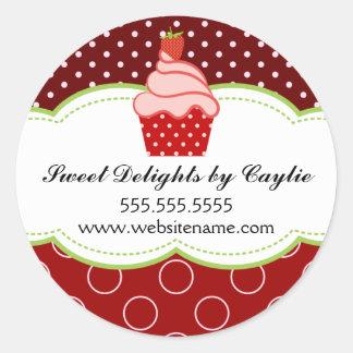 Strawberry Cupcake Bakery Stickers