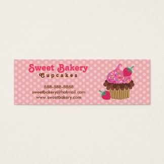 Strawberry Cupcake Mini Business Cards Tags