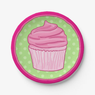 Strawberry Cupcake Party Plate