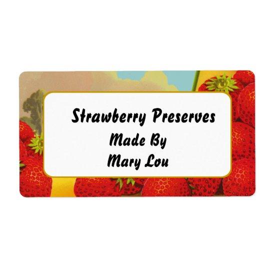 Strawberry Custom Vintage Fruit Labels