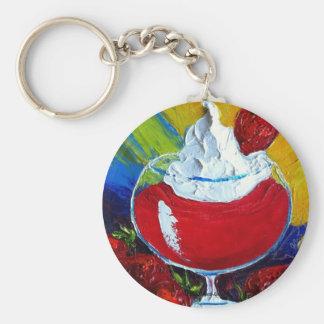 Strawberry Daiquiri Basic Round Button Key Ring