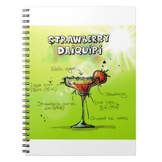 Strawberry Daiquiri Recipe - Cocktail Gift Notebook