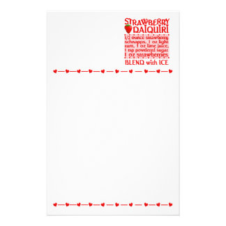 Strawberry Daiquiri stationary, customize Stationery