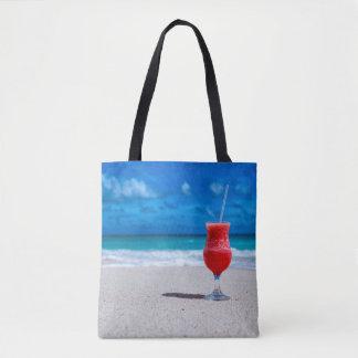 Strawberry Daiquiri Tropical Punch Caribbean Beach Tote Bag
