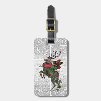 Strawberry Deer Luggage Tag