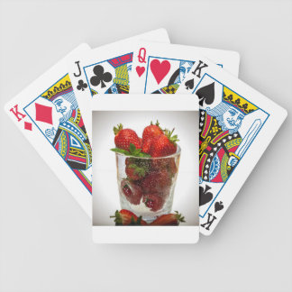 Strawberry Dessert Bicycle Playing Cards
