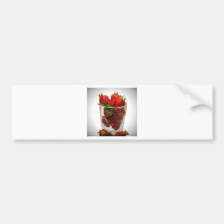 Strawberry Dessert Bumper Sticker